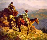 On the Edge of the World by western artist Howard Terpning