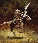 Sioux Flag Carrier by western artist Howard Terpning