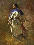 Shield of Her Husband by western artist Howard Terpning