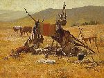 One Man's Castle by western artist Howard Terpning