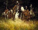 The Warning by western artist Howard Terpning