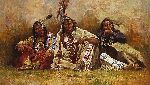 Blackfeet Spectators by Howard Terpning