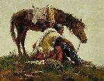 Watching the Column by western artist Howard Terpning