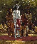 Preparing for the Sun Dance by western artist Howard Terpning