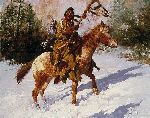 Winter Coat by western artist Howard Terpning
