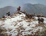 Search for the Pass by western artist Howard Terpning