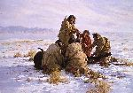 The Last Buffalo by western artist Howard Terpning