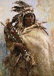 Leader of Men by western artist Howard Terpning