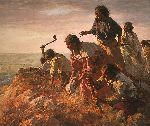 Digging In at Sappa Creek by western artist Howard Terpning