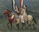 Prairie Knights by western artist Howard Terpning