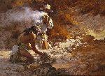 The Apache Fire Makers by western artist Howard Terpning