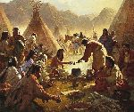 Old Country Buffet - The Feast by western artist Howard Terpning