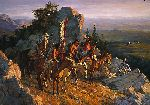 Gold Seekers to the Black Hills by western artist Howard Terpning