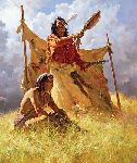 The Weather Dancer Dream by western artist Howard Terpning