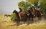 The Stragglers by western artist Howard Terpning