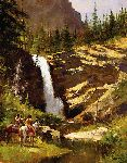 Running Eagle Falls by western artist Howard Terpning