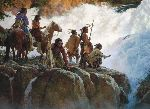 The Force of Nature Humbles All Men by western artist Howard Terpning