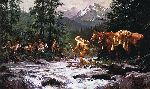 They Came From Nowhere by western artist Howard Terpning