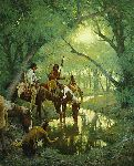 Cheyenne at the Disappearing Creek by Howard Terpning