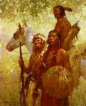 Protectors of the Cheyenne People by western artist Howard Terpning