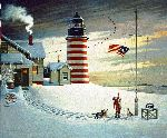 West Quoddy Head Light by Charles Wysocki