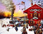 Whistle Stop Christmas by Charles Wysocki