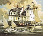 Rockland Breakwater Light by Charles Wysocki