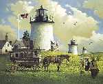 The Three Sisters of Nauset - 1880 by Charles Wysocki