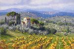 Above Florence by wine country artist June Carey