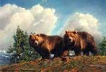 Spring Break - Grizzly Bear by wildlife artist Nancy Glazier