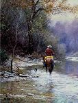 Creek Bottom Search by western artist Martin Grelle