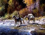 A Good Crossing by western artist Martin Grelle