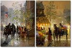 Lady's Choice & Along Park Avenue (2 print set) by G. Harvey