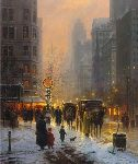 Evening Along the Avenue (New York City) by G. Harvey