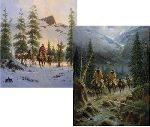 In the Land of Alpine Lakes & Land of Whispering Pines (print set) by G. Harvey