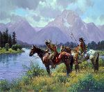 Signs Along the Snake by western artist Martin Grelle