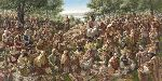 All Were Satisfied - Jesus Feeds the Five Thousand by Christian artist James Seward