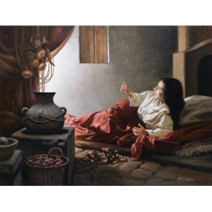 Blessed Among Women - Annunciation by religious artist James Seward