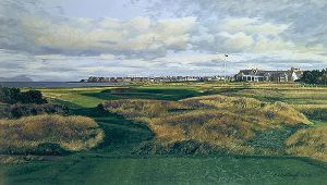17th Hole Clubhouse Royal Troon by Linda Hartough