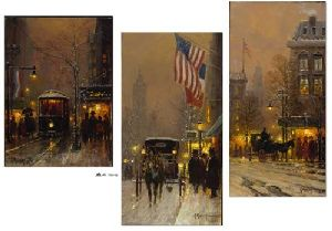Avenues of Light (set of three) by G. Harvey